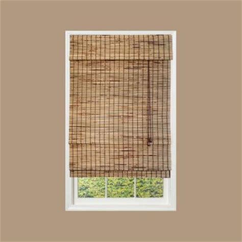 bamboo curtains home depot natural kiawah bamboo roman shade 52 in w x 72 in l