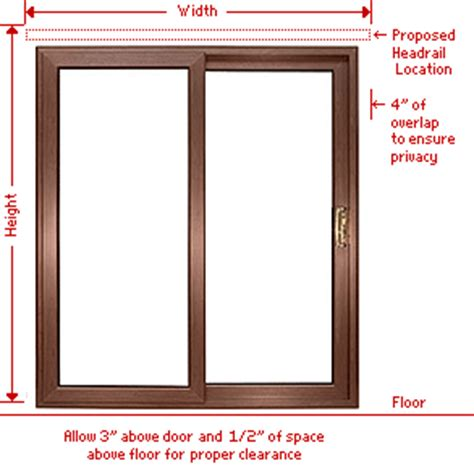 Patio Door Measurements How To Measure Vertical Blinds Www Levolor