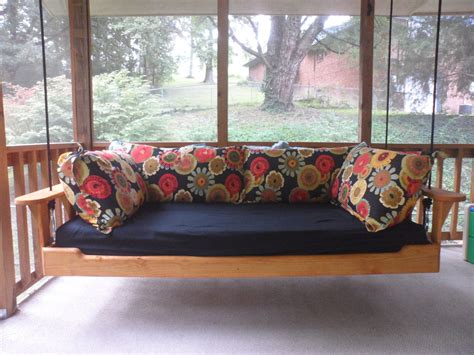 swing porch bed items similar to hanging porch bed swing on etsy