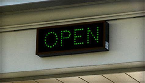 light up open closed sign bank drive thru open closed led signs outdoor led
