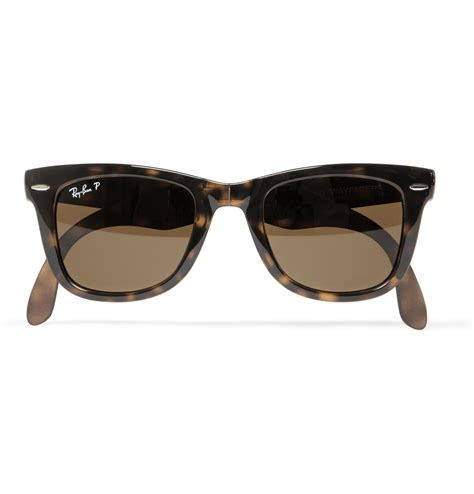 Tortoiseshell Sunglasses by Ban Folding Wayfarer Tortoiseshell Sunglasses In Brown