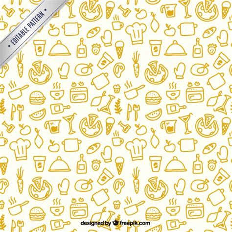 Kitchen Pattern Vector Free | sketchy kitchen pattern vector free download
