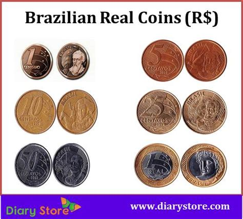 currency brl real brazil currency brl centavo diary store