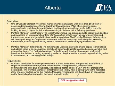 Cfa Mba Salary Canada by Canada Cfa Information Kit