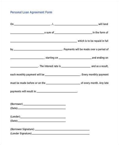 Simple Agreement Forms 31 Free Documents In Word Pdf Simple Loan Application Form Template