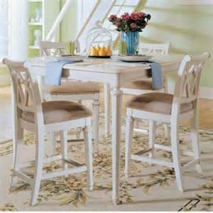 Counter Height Dining Table White American Drew Camden White 5 Pc Counter Height Table Set