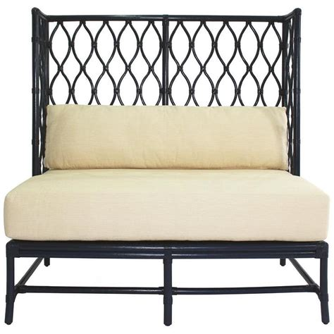 ambrose blueberry blue banquette bench