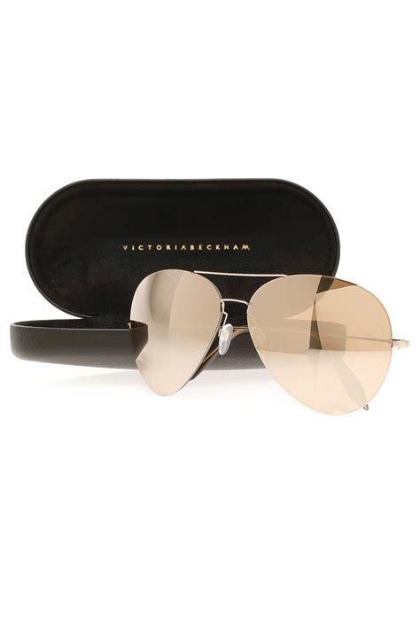 Bckham Sunglasses beckham feather aviator 18ct gold sunglasses in metallic lyst
