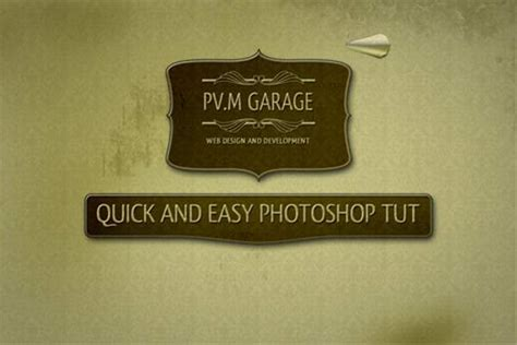 vintage logo design photoshop tutorial retro style designing photoshop tutorials