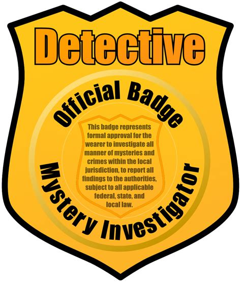 Detective Badge Clipart Clipart Panda Free Clipart Images Detective Badge Template