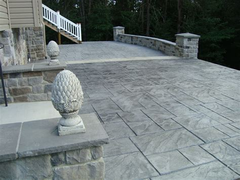 grey patterned concrete sted concrete patio saving much of your budget amaza