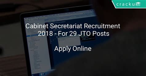 Cabinet Recruitment by Cabinet Secretariat Recruitment 2018 Application Form