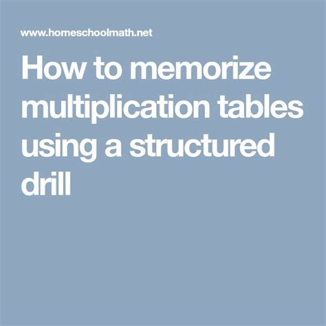 how to memorize multiplication table best 25 multiplication tables ideas on times