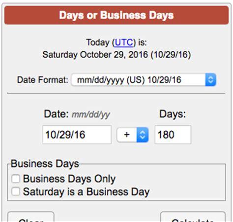calculator days date and days calculator date and business days calculator