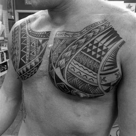 polynesian tribal chest tattoo best tattoo ideas designs 50 polynesian chest tattoo designs for men tribal ideas