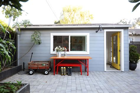 Detached Garage Conversion by Houzz Detached Garage Conversion To Lounge Space