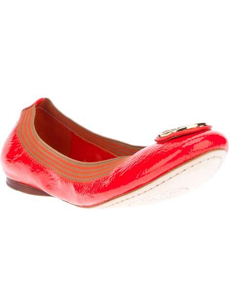 burch sale shoes flats burch caroline ballet flat in lyst
