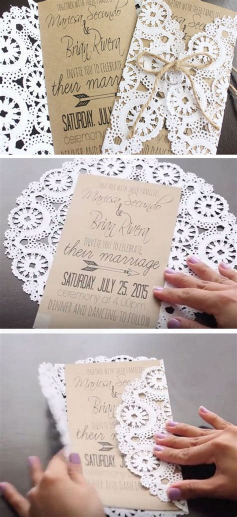 Easy Handmade Wedding Invitations - 50 budget friendly rustic real wedding ideas hative