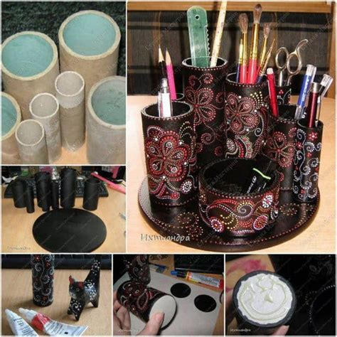 toilet paper roll desk organizer toilet paper roll crafts to keep your home organized