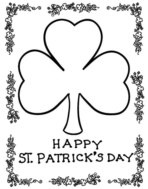 shamrock coloring pages kids world