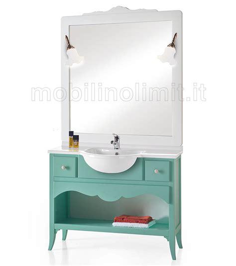 bagno verde acqua mobile bagno 2 cassetti e un vano verde acqua