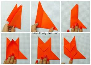 How To Make A Origami Fox - origami fox origami for easy peasy and