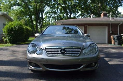 sell used 2005 silver mercedes c230 kompressor coupe