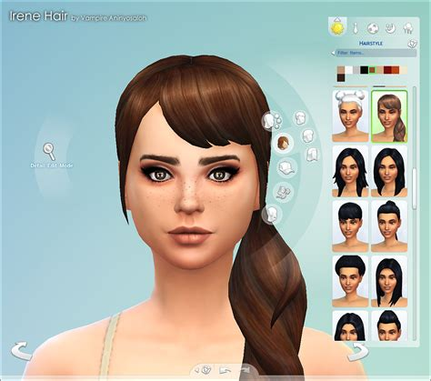 sims 4 hairstyles mods mod the sims irene hair new mesh