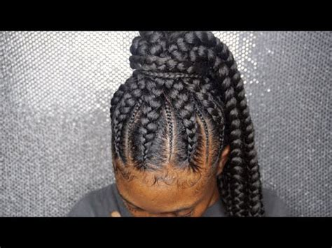 feeder braids into a ponytail! @hair.bybre_ atlanta