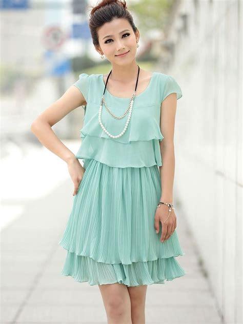 Layered Dress new summer cake layered chiffon sleeve dress