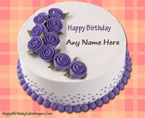 Write name on Purple Happy Birthday Cake happy birthday cake with name on on birthday cakes write your name pictures online photo editing