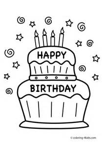 happy birthday coloring pages cake happy birthday coloring pages coloring