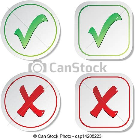 vector illustration of vector stickers check marks