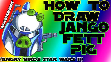 angry birds wars doodle activity annual 2013 how to draw jango fett pig from angry birds wars 2