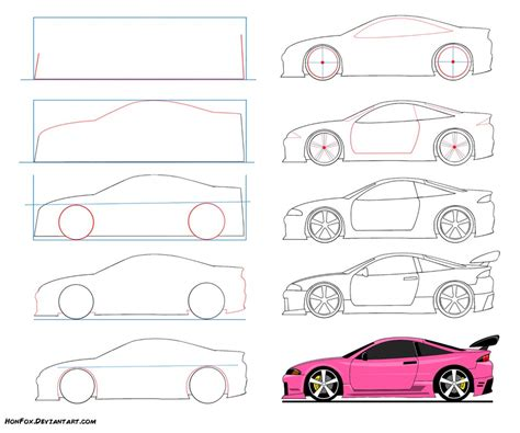how to draw a car drawing fast race sports cars step by step draw cars like buggati aston martin more for beginners books how to draw a car dr