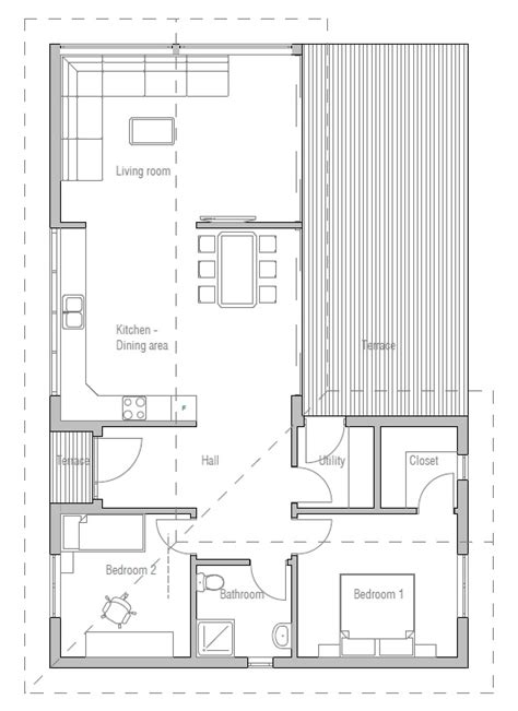 small house plan with efficient room planning house plan