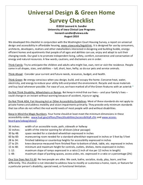 hcd new home universal design checklist u of iowa
