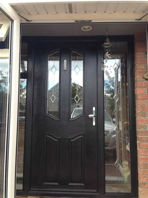 Glazed Front Doors Rosewood Door Rosewood Modern Front Doors Upvc Exterior Door With Side Panels Colour