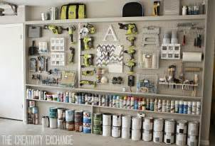 Peg Board Designs Organizing The Garage With Diy Pegboard Storage Wall