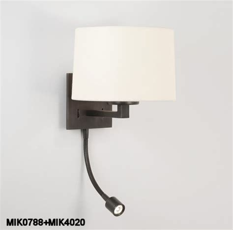 Bedside Wall Lights Small Bedside Wall Light With Led Bronze