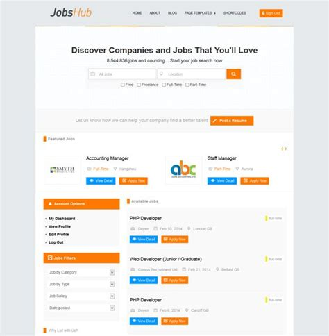 google layout manager 10 best 10 of the best job board wordpress themes images