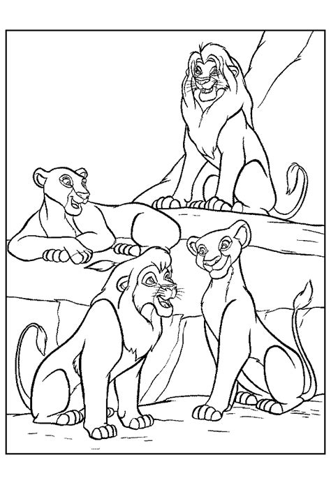 pride of lions coloring page coloring pages of the lion king az coloring pages