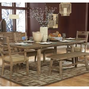 driftwood dining room table homelegance oxenbury dining table in weathered driftwood