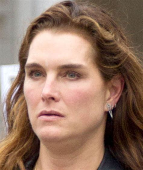 the face of 50 year olds brooke shields out and about new york papped
