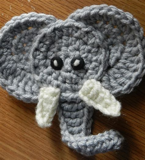free patterns applique crochet crochetpedia 2d crochet elephant applique