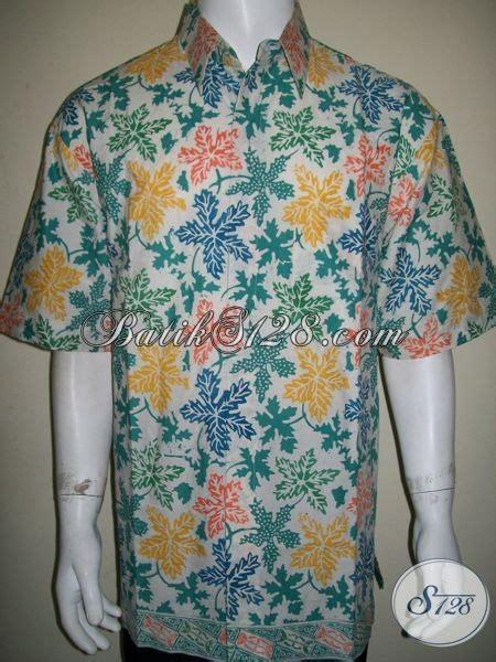 Gamis Katun Jepang Motif Daun Pepaya baju batik untuk pria gemuk motif daun pepaya til