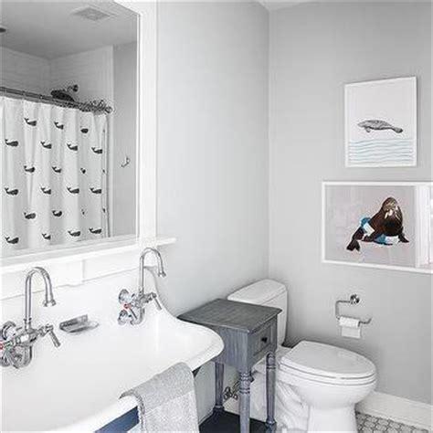 shower curtain for blue bathroom gray and blue bathroom design ideas