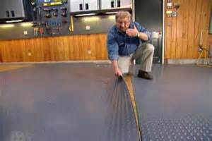 How to put down a roll out floor covering in a garage ron hazelton