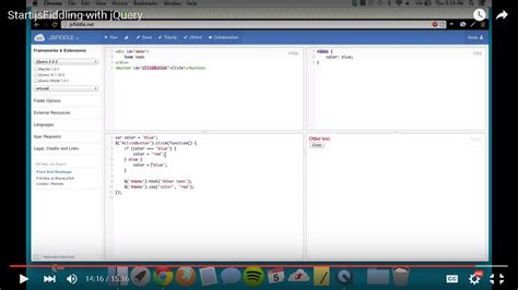 javascript tutorial jsfiddle javascript jsfiddle framework and extenstions not