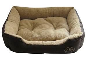 pet bed cat puppy kitten soft fleece 2 colours small